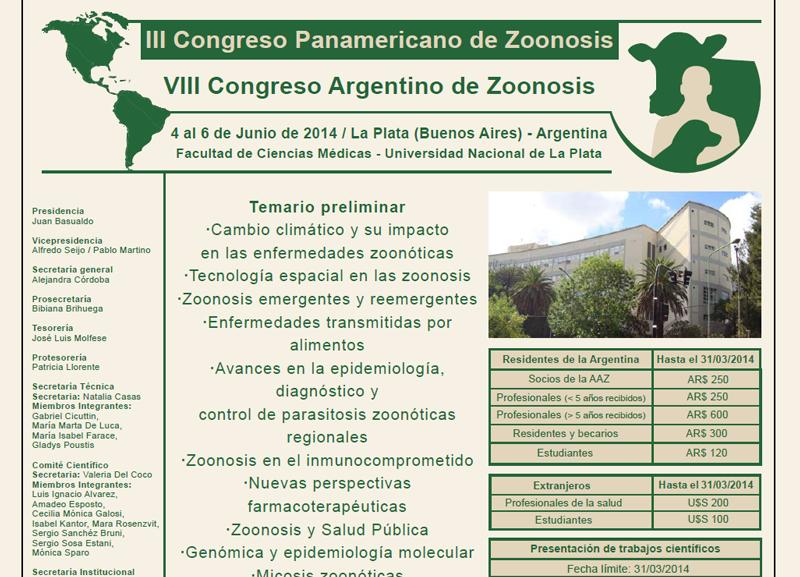 VIII Congreso Argentino de Zoonosis 2014