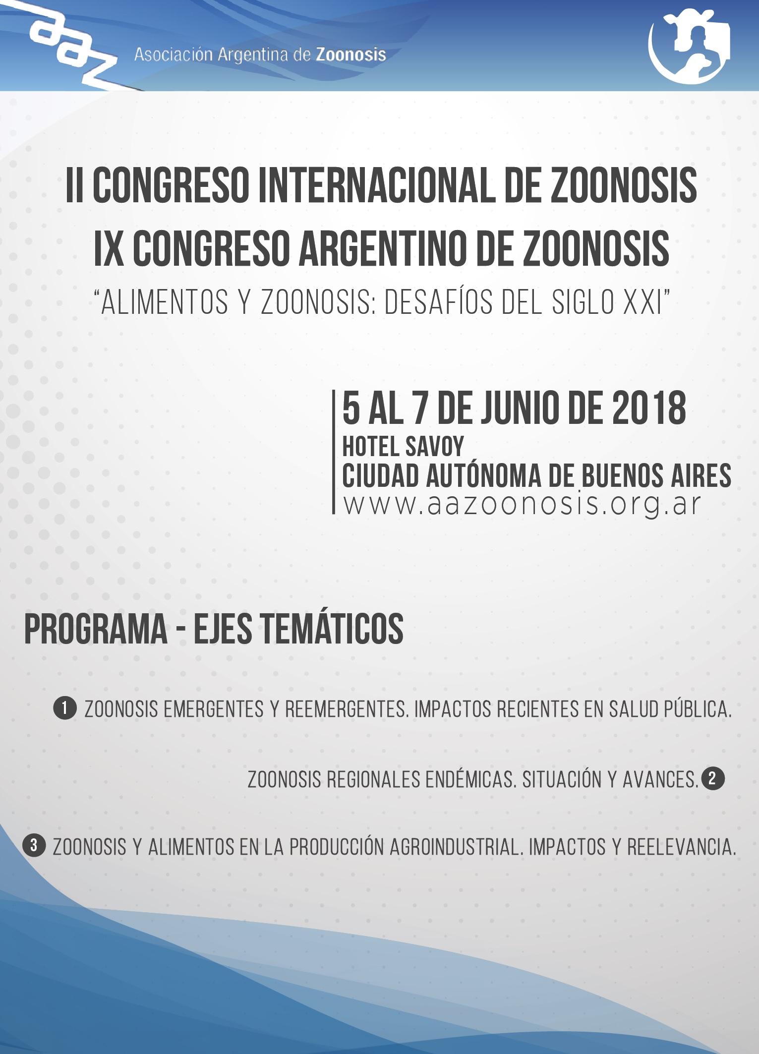 II Congreso Internacional de Zoonosis – IX Congreso Argentino de Zoonosis