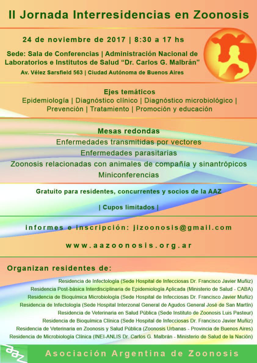 II Jornadas Interresidencias en  Zoonosis