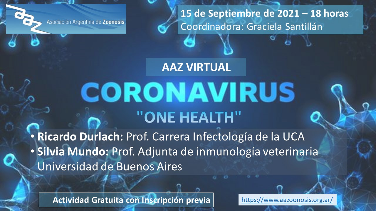 "AAZ VIRTUAL – CORNAVIRUS ""ONE HEALTH"""
